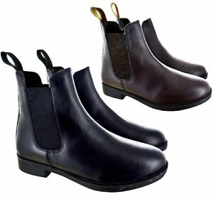 BLACK BROWN ANKLE CHELSEA BOOTS SIZE