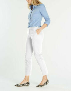 Boden-Damenhose-7-8-Chino-Chinohose-Stretch-Weiss-NEU-UK-10-L-EU-38