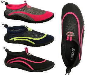 Womens Water Shoes Aqua Sock Pool Beach Dance Yoga Exercise Surf-Aqua Shield (L)