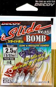 Decoy SV-45 Jig Head Slide Bomb Hook Size 4 2 grams 4696
