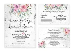 Wedding Invitations Personalized Rustic Invites With Rsvp Cards Set