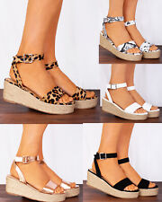 141d3ff8e09 item 1 ROSE GOLD METALLIC WEDGED CANVAS ESPADRILLES WEDGES STRAPPY SANDALS  ANKLE SHOES -ROSE GOLD METALLIC WEDGED CANVAS ESPADRILLES WEDGES STRAPPY  SANDALS ...