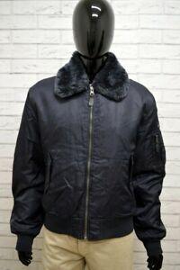 Giubbino-GAS-Uomo-Taglia-Size-XL-Giubbotto-Giacca-Bomber-Coat-Jacket-Man-Blu