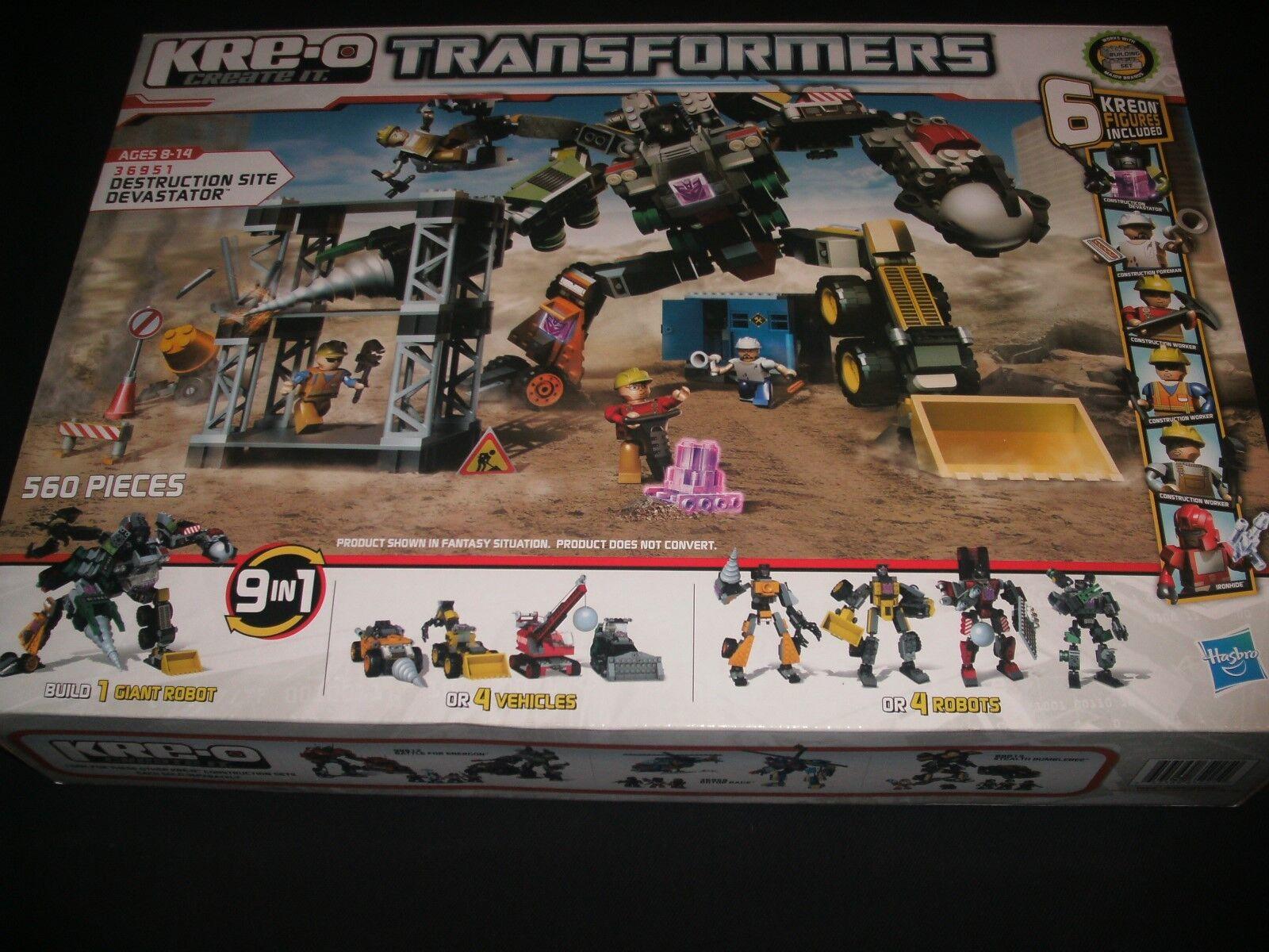 DESTRUCTION SITE DEVASTATOR Transformers KRE-O Buildable Set pcs