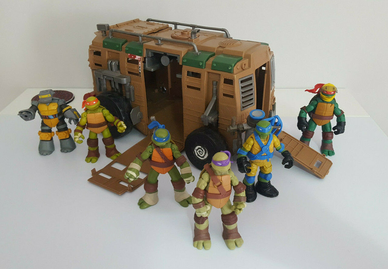 Teenage Mutant Ninja Turttles Turttles Turttles   Shell Raiser Vehicle   +6 Rare Action Figures 4863b5