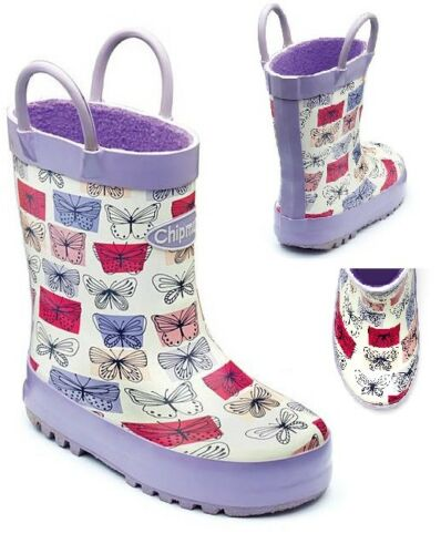 INFANT GIRLS CHIPMUNKS WELLINGTONS WELLIES  MUCKER SNOW WATERPROOF BOOTS SHOES