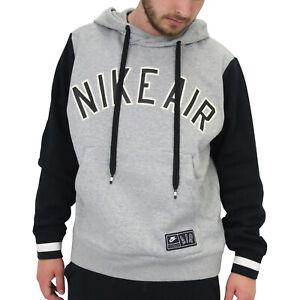 pretty nice 6fef8 8a6d4 Details zu Nike Air Hoodie Kapuzenpullover Pulli Swetashirt Herren AR1817  063 Grau