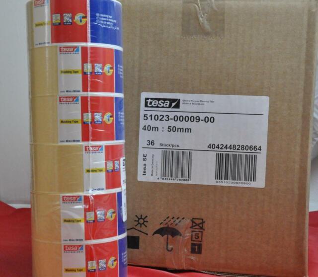 Gut bekannt 3 Rollen TESA Professional Precision Mask 50m X 38 Mm Krepp Maler FN06