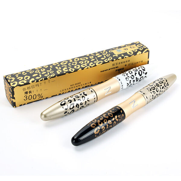 3D Fiber Leopard Lash Extension Mascara Long Curling Eyelash Cosmetic Waterproof