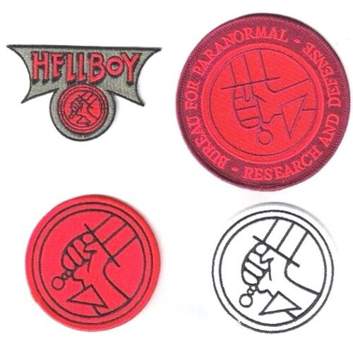 4 Hellboy Bureau of Paranormal Research /& Defense Logos DELUXE Patch Set of