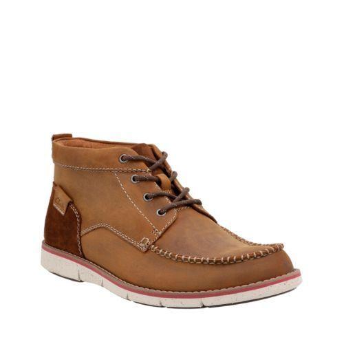 Clarks Mens  Kyston Mid Tan Nubuck Ankle Stiefel , Cushion   UK 7,9,10,11 G