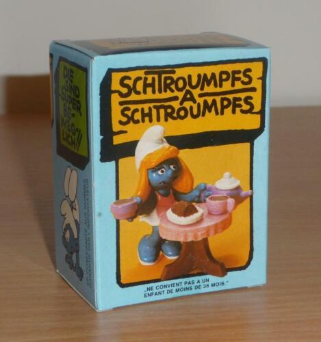 BOITE Schtroumpf Schleich Smurf Puffi Pitufo Schlumpf 40245 SALON de THE