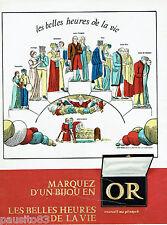 """PUBLICITE ADVERTISING 115  1966   L'OR les belles heures de la vie """"PELLERIN"""