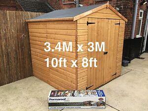 Epdm Rubber Roofing Shed Kit 3 4m X 3m Shed Roof Felt