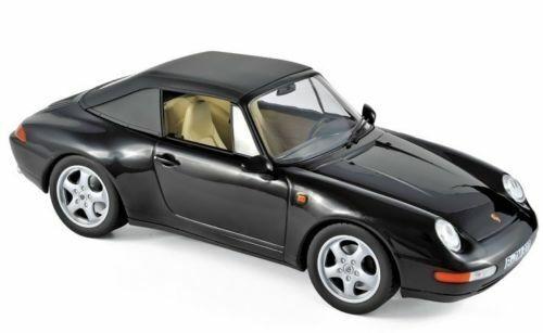 1 18 Norev 187595 Porsche 911 Converdeible 1993 nero Nuevo   Embalaje Original