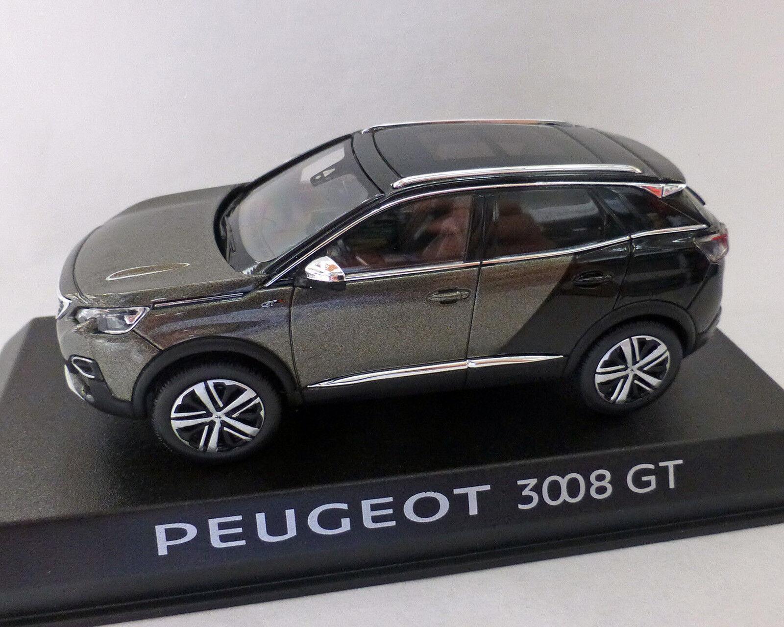 PEUGEOT 3008 GT 2016, grigio-metallico, 1:43 NOREV