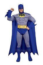 SUPERHERO BATMAN MUSCLE CHEST DC COMICS ADULT MALE FANCY DRESS PARTY