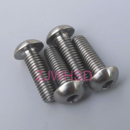 4pcs M5 x 16 Titanium Ti Screw Bolt Allen Hex Socket Button Head//Aerospace Grade