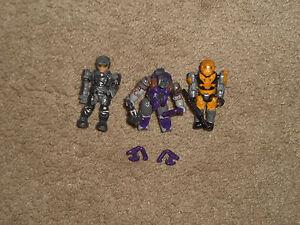 Lot of 3 MEGA block Halo Figures