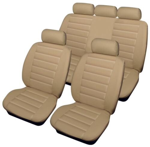 Full Set of Luxury BEIGE Leather Look Car Seat Covers Rover 25