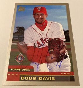 2000 Topps Traded DOUG DAVIS #T78 Texas Rangers Signed Autograph Auto Baseball