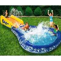 Slide Inflatable Body Board Pool Kids Water Sports Game Toy Outdoor Fun Play