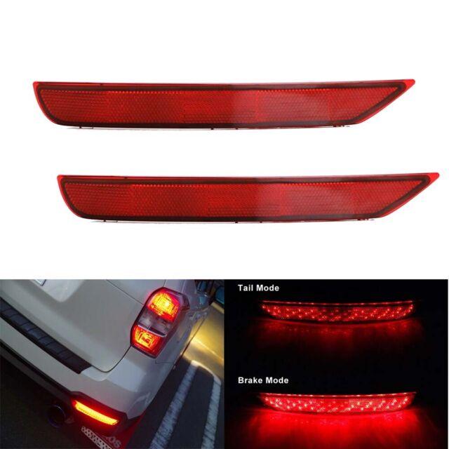 Pack of 2 TTX LIGHTING Red Lens Rear Bumper Light For 2009-2018 Subaru Forester Function as Tail//Brake//Rear Fog Lamps
