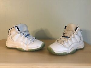 b34a7055f66bd Nike Air Jordan 11 XI Retro BG Legend Blue Size 4Y 378038-117 100 ...