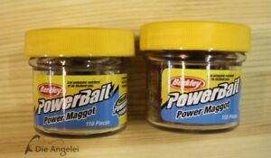 Berkley-Power-Maggot-kuenstliche-Maden-110-Stueck-im-Glas-White-oder-Red