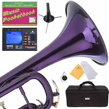 MENDINI Bb TRUMPET ~PURPLE LACQUERED FOR CONCERT BAND +TUNER+STAND+CARE KIT+CASE