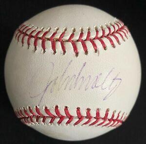 John Smoltz Signed Official MLB Baseball Autographed Atlanta Braves HOFer PSA