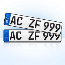 2 Stück EU KFZ Nummernschilder | Kennzeichen | Autoschilder |  alle Automobile