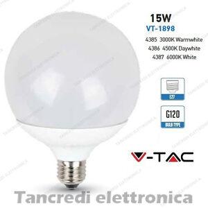 Lampadina-led-V-TAC-15W-100W-E27-VT-1898-G120-globo-lampada-lampadine-SMD-bulb