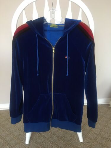 AVIATOR NATION VELOUR ZIP UP SWEATSHIRT, SIZE S
