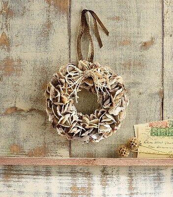 Mud Pie Sea Life Oyster Shell Wreath Nautical Ocean Christmas Decor Holiday New