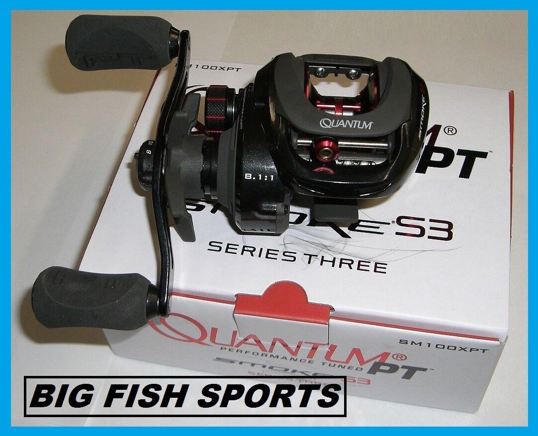 Quantum Smoke PT Series 3 Casting Fishing Reel New Right Hand SM100XPT 8.1-1
