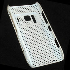 HQRP Mesh (Flexible Plastic) White Skin / Cover Case compatible with Nokia N8