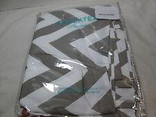 new kassatex fine linens chevron fabric shower curtain 72x72 greywhite nip