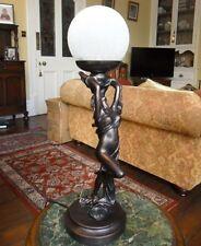 ART Deco Stile Nora Biba LADY Lampada Luce FIGURINA statua bronzo spedizione gratuita