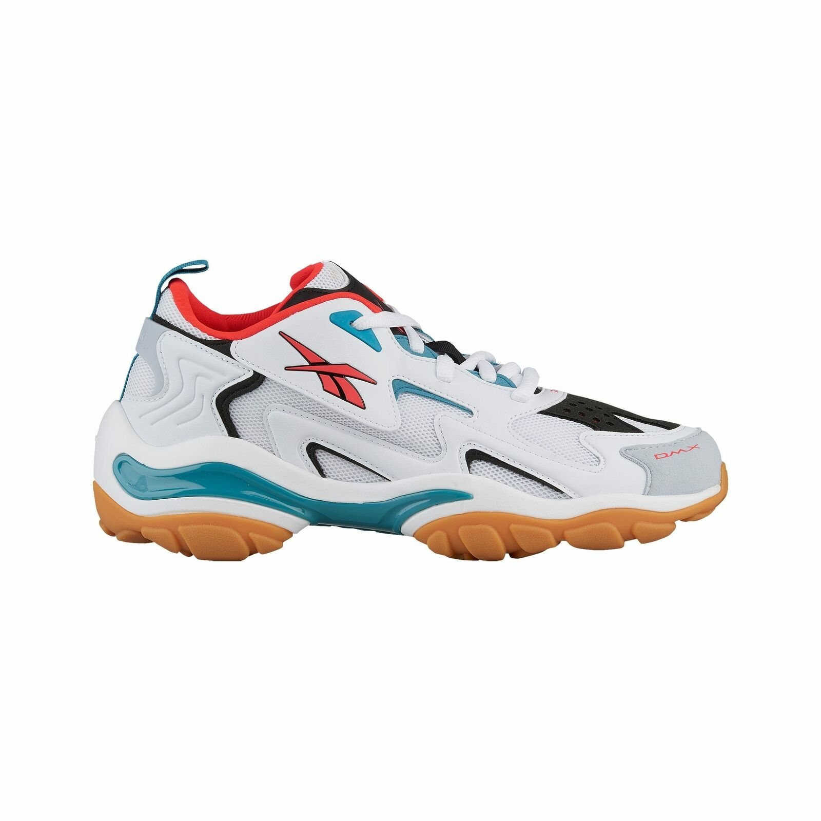 Reebok DMX Run 1600 - Men's White Black Neon Red Mineral Mist CN7738