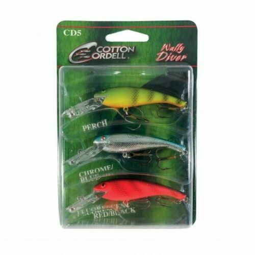 Cotton Cordell Wally Diver 3-Piece Variety Pack Bass and Walleye Fishing Lure