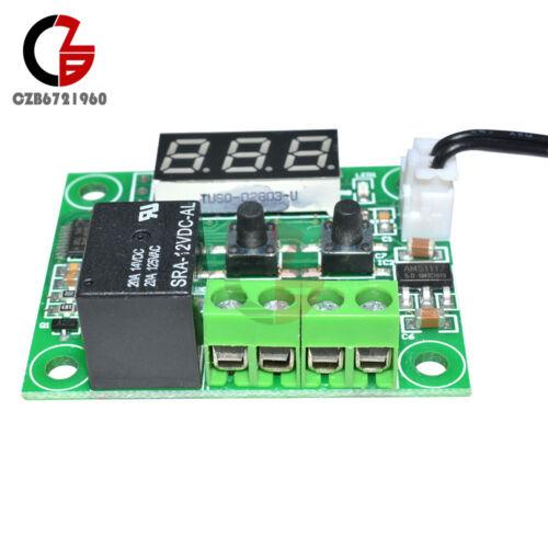 W1209-50-110°C DC 12V Red LED Digital Thermostat Temperature Controller Sensor