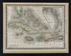 1891-McNally-Map-West-Indies-Cuba-Jamaica-Porto-Rico-Hayti-Bahamas-Florida-Keys