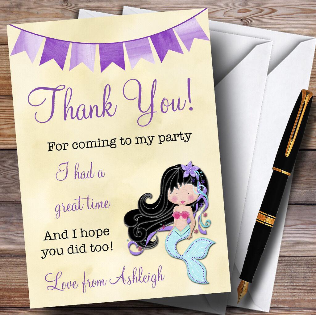 Sirène jaune jaune Sirène & Purple parti Merci cartes 83e8c8