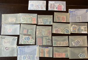 CANADA-STAMPS-LOT-REGISTERED-AIRMAIL-AND-MORE