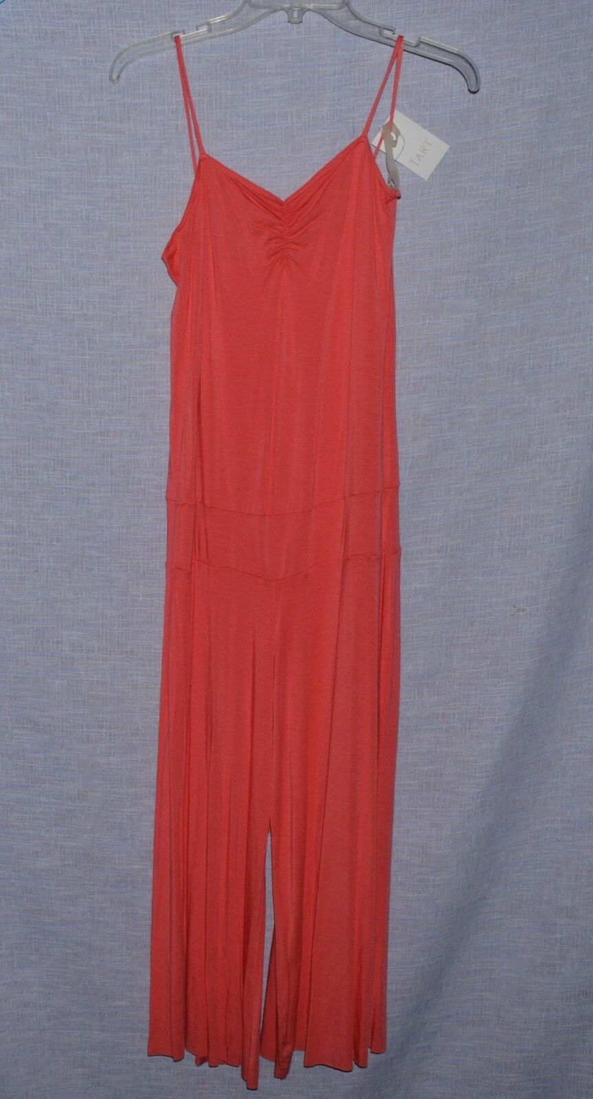 TART COLLECTION NEW NWT SZ M MEDIUM PINK CORAL STRETCHY ROMPER MADE IN USA