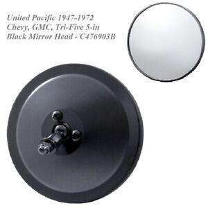 United-Pacific-1947-1972-Chevy-GMC-Tri-Five-5-in-Black-Mirror-Head-C476903B