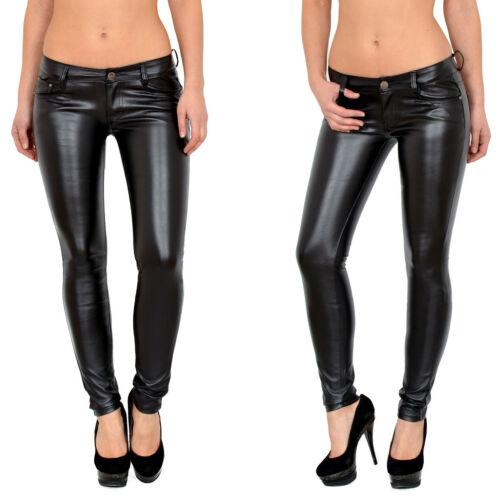 Femmes Jeans tubes jeans skinny jeans hüftjeans pantalon en simili cuir h1200