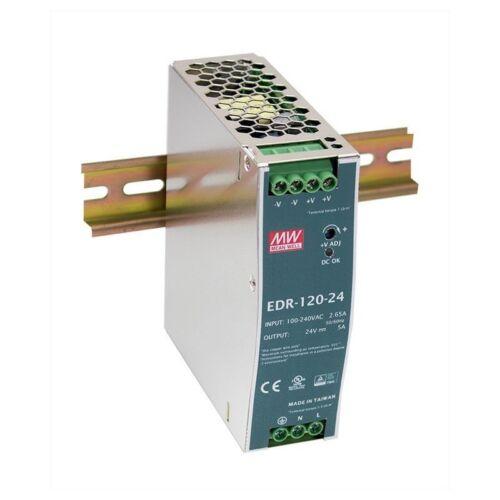 MeanWell EDR-120-24 Hutschienennetzteil 120W 24V 5A slim sparsam DIN-Rail