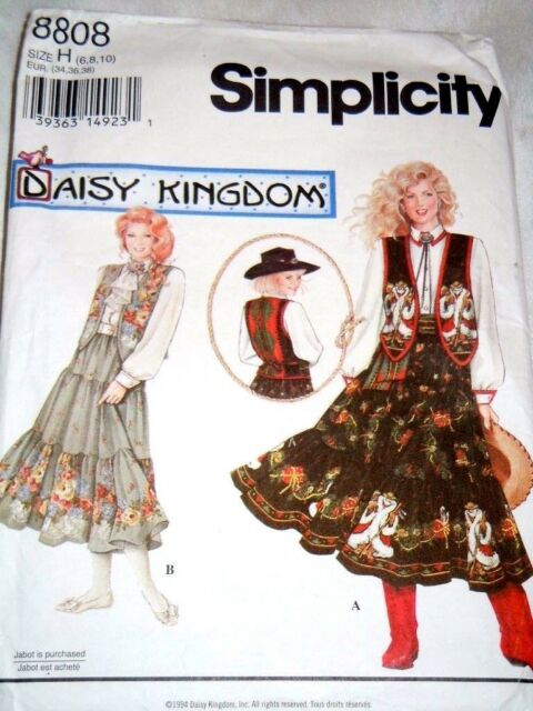 1994 Simplicity Daisy Kingdom Sewing Pattern 8808 \